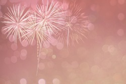Abstract bokeh and fireworks background for new year 2021, new year decoration for background