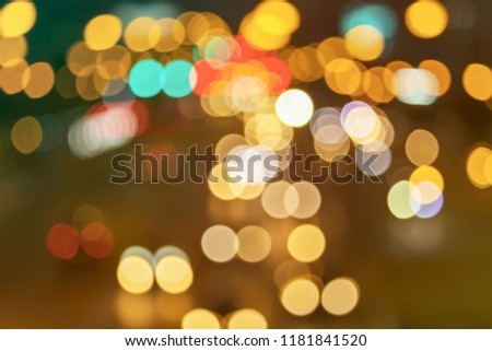 Abstract bokeh background Christmas and New Year  #1181841520