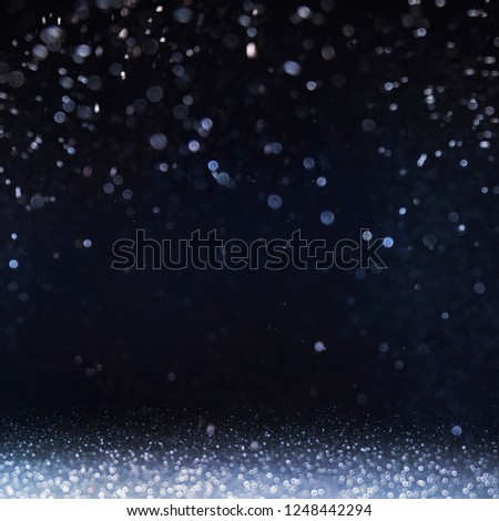 Abstract bokeh background, Christmas and New Year holidays background with light. #1248442294