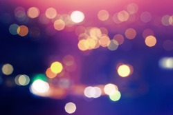 Abstract bokeh background. Soft defocused lights