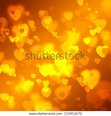 abstract bokeh background with hearts. love background