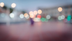 abstract bokeh blur light background , bokeh style in the city