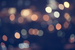 Abstract Bokeh blurred color light can use background