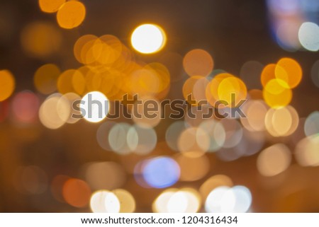 Abstract bokeh circle background Sparks traffic at night. - Shutterstock ID 1204316434