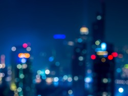 Abstract  bokeh   cityscape of Bangkok night background / illustration