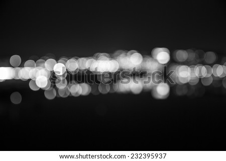 Abstract bokeh (defocused) lights of Stockholm's city skyline. #232395937