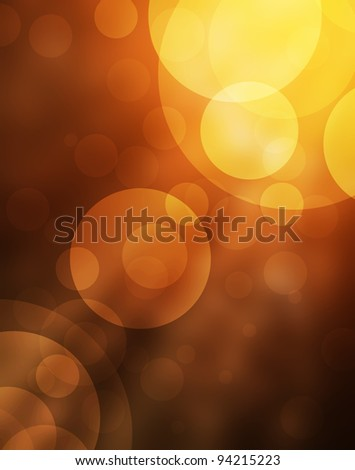 abstract bokeh lights on golden and red background