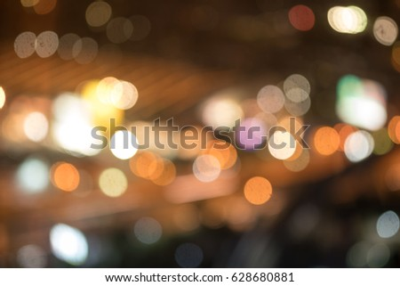 Abstract bokeh night in city background #628680881