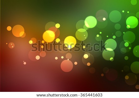 Abstract bokeh on green blurred background, bokeh on dark night blurred background