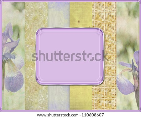 Abstract border frame, has vintage grunge background texture design with lighting, luxurious paper or wallpaper