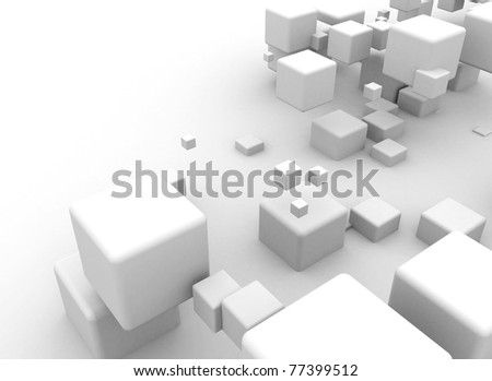 Abstract box background