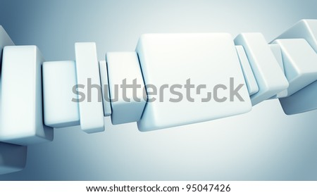 abstract boxes 3d render