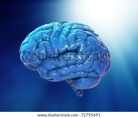 Abstract brain illustration - stock photo