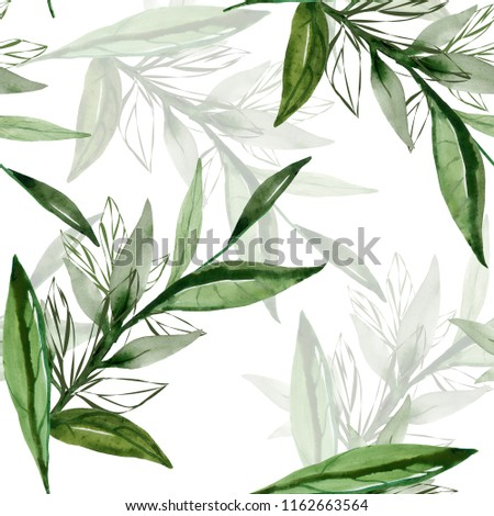 Abstract branch of a tree.Seamless pattern image.