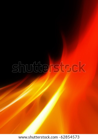 abstract bright and hot flames background
