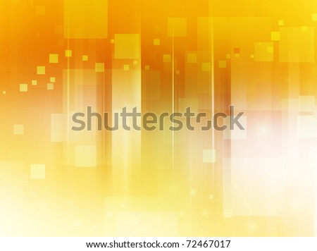 Abstract bright background in yellow, orange and brown tones made of scattered squares.
