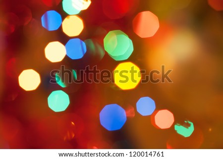 Abstract bright circular bokeh background of Christmaslight