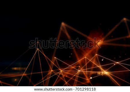 Abstract bright low poly tech backdrop. Technology and innovation concept. 3D Rendering