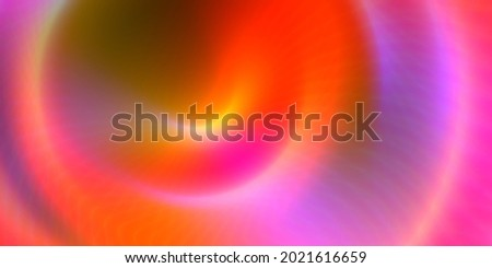 Abstract bright orange pink red lights effect background with duo tone wavy mandala spiral circle geometric glowing shapes pattern
