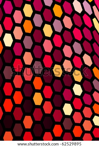 Abstract bright stained-glass background. Raster version. Vector version is in my gallery. - stock photo