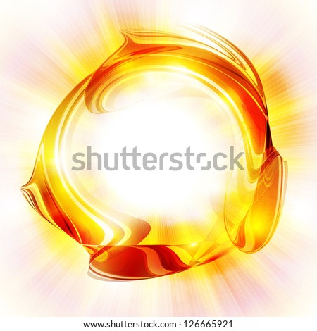 Abstract bright sun in white background. Rasterized version