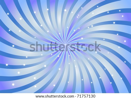 Abstract bright swirl background in blue color with lights. The similar image in my portfolio in vector format.