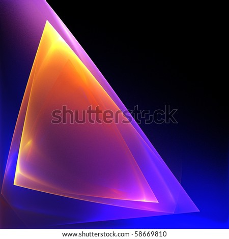 Abstract bright translucent geometric background