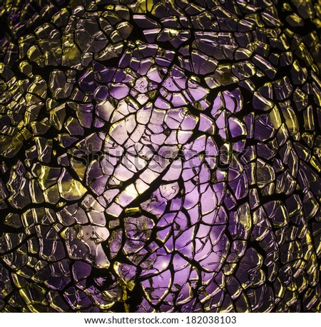 Abstract broken glass