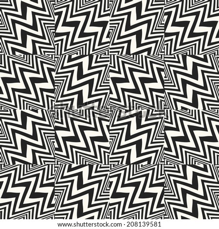 Abstract broken striped textured geometric seamless pattern.