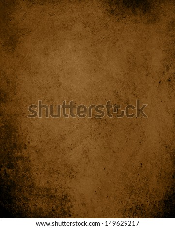 abstract brown background, country western style earth tone with vintage grunge background texture, dark brown paper with black grungy worn edges, rough distressed texture layout design for web