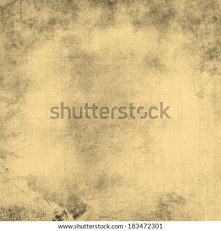 abstract brown background paper or white background wall design with gold beige vintage grunge background texture and warm sepia background light color on black border, blank web or template brochure