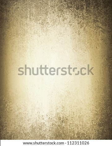 abstract brown background with white center spotlight for text with rough distressed vintage texture on border or frame on old paper background with burnt edges, white background template