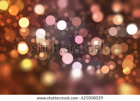 abstract brown bokeh circles with particles. illustration beautiful. #625008029