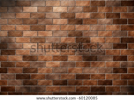 Abstract brown Brick wall created in photoshop.