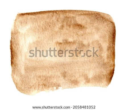 Abstract brown earth tones brush strokes background isolated on white.