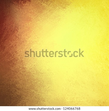abstract brown gold background layout design with burgundy red color splash in corner and vintage grunge background texture, yellow warm colors with contrast border edges, yellow paper for web or ad
