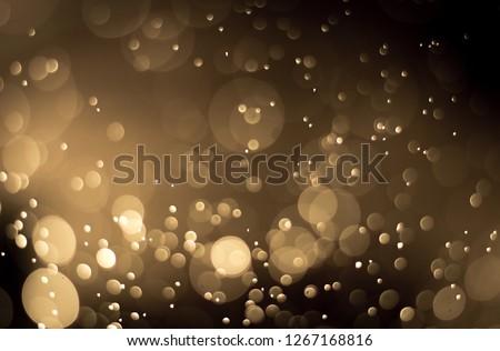 abstract brown golden background bokeh light effect #1267168816