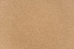 Abstract brown recycled paper texture background or backdrop. Empty old cardboard or recycling paperboard for design element. Simple beige grainy surface for journal template presentation.