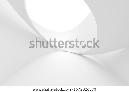 Abstract Building Background. Wave Graphic Design. Purity 3d Illustration