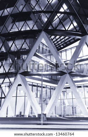 Abstract built structure located in the city of London.