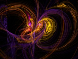 Abstract burst of energy, fractal background