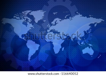 Abstract business background blue color