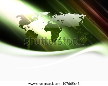abstract business background with a map of the world
