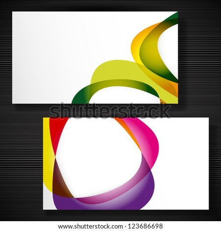 Abstract business-card with forms of empty frames for your card design. - stock photo