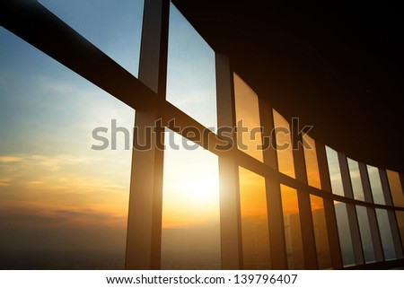 abstract business interior, view of sky #139796407
