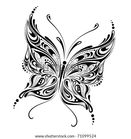 abstract butterfly design - raster version