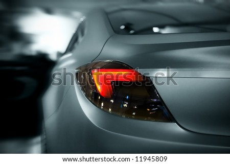 abstract car lights with motion effect, toned
