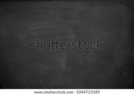 Abstract Chalk rubbed out on blackboard for background. texture for add text or graphic design. Education concepts school. #1044723589