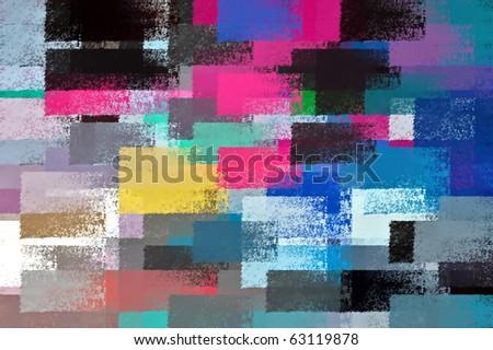 Abstract chalk strokes illustration. Impressionist background pattern.