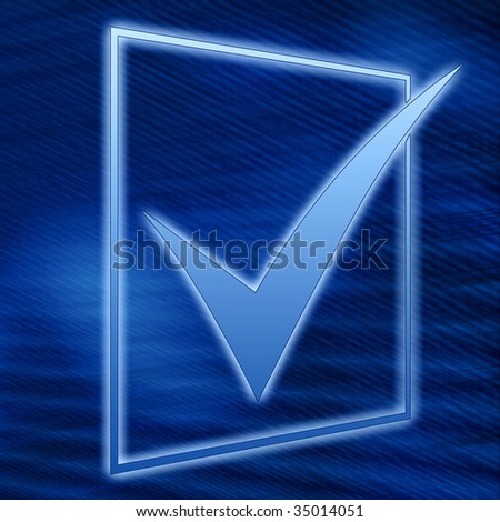 abstract check list symbol